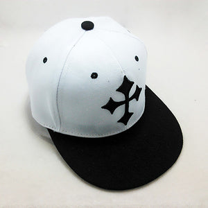 Mens Large Cross Print Snapback Baseball Cap