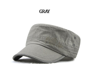 GEMAY G.M. Brand Classic Adjustable Flat Top Military Hat