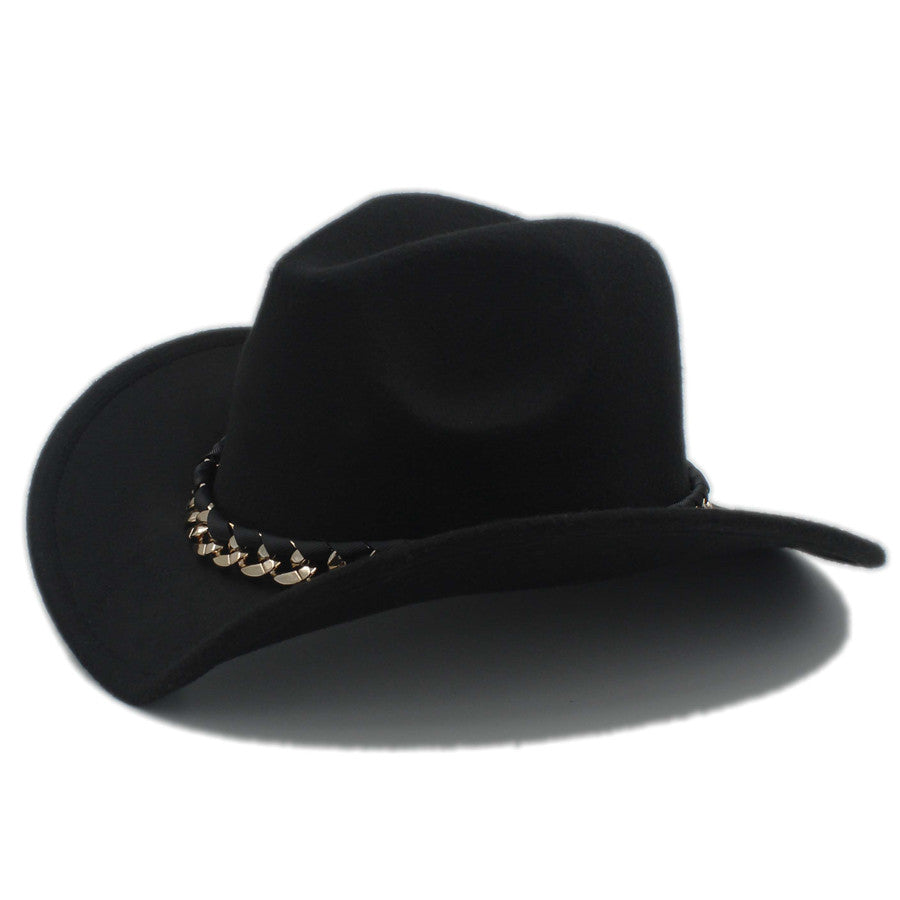 Wool Gentleman's Cowboy Hat with Chain Band
