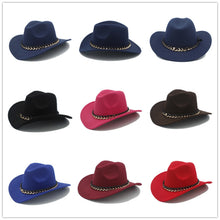 Load image into Gallery viewer, Wool Gentleman's Cowboy Hat with Chain Band
