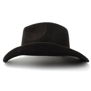 Wool Unisex Western Cowboy Hat W/Leather Cloche