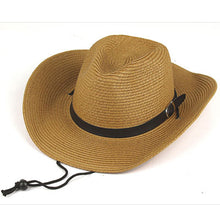 Load image into Gallery viewer, Straw beach sun hat