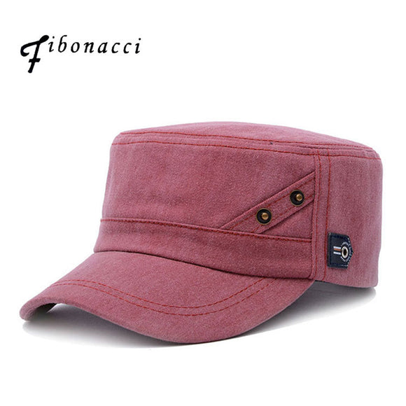 FIBONACCI Classic Adjustable Solid Pattern Military Hat