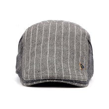 Load image into Gallery viewer, Striped Wool Adjustable Newsboy Caps*