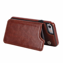 Load image into Gallery viewer, Flip Case for iPhone 6,7 ,8 Plus X Case-Leather Card Slot Holster- Cover for Samsung S7 Edge S8
