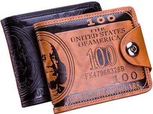 Load image into Gallery viewer, Flying birds men Wallet- dollar  Leather Wallet Clutch- Credit card holder