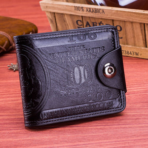 Flying birds men Wallet- dollar  Leather Wallet Clutch- Credit card holder
