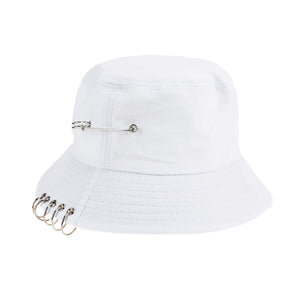 JOCESTYLE Solid Color Multi-Ring Bucket Hat