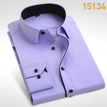 Load image into Gallery viewer, Mens Long Sleeve Solid Pattern Formal Dress Shirt