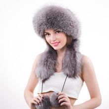 Load image into Gallery viewer, Womens Pom Pom Ear Faux Fur Princess Bomber Hat