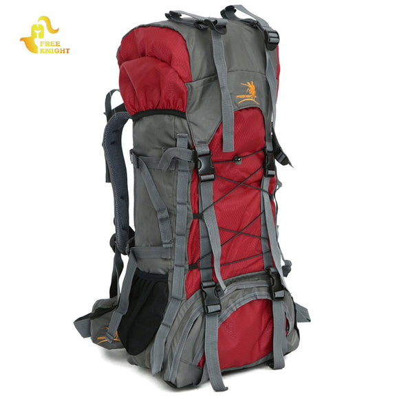 60L Nylon Waterproof Outdoor Camping Backpack