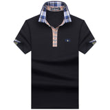 Mens Short Sleeve Solid Color Polo