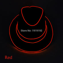 Load image into Gallery viewer, LED Neon Light Glow Fedoras Powered by DC-1.5V