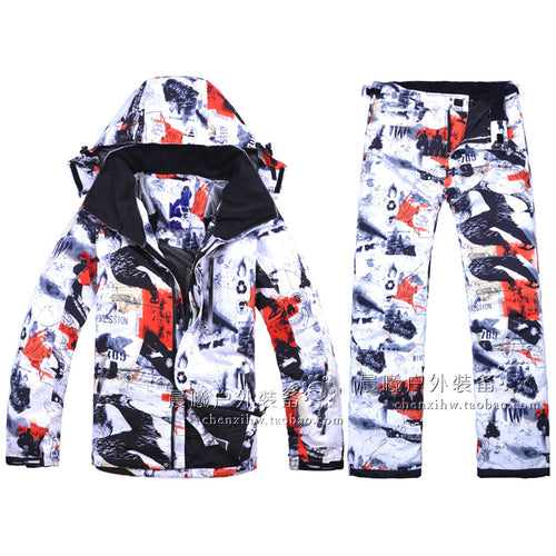 Mens 2-Piece Waterproof Thermal Ski Suit
