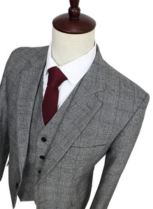 Custom Made 3-Piece Slim Fit Tweed Business Suit