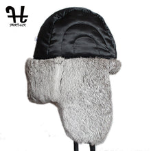 Load image into Gallery viewer, Mens Russian Style Winter Leather And Sheep Bomber Hat