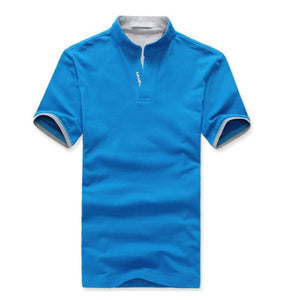 Mens Solid Color Short Sleeve Casual Trend Tee's
