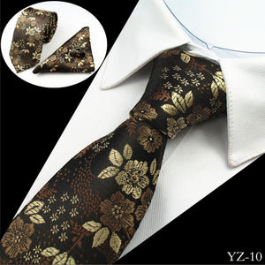 Mens Jacquard 100% silk 3-Piece Tie Set