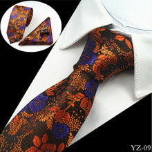 Load image into Gallery viewer, Mens Jacquard 100% silk 3-Piece Tie Set