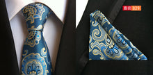 Load image into Gallery viewer, Mens Jacquard Woven Silk Ties w/Pocket Square Sets