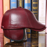 Genuine Leather Cashmere Lined Russian Style Duckbill