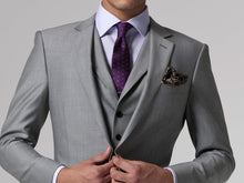 Load image into Gallery viewer, Gray Custom-Made 3-Piece Formal Single-Breast Tuxedo