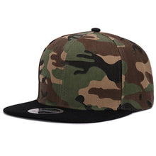 Load image into Gallery viewer, Mens Solid Pattern Adjustable Camo Snapback