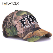 Load image into Gallery viewer, NEW ADJUSTABLE LETTER PRINT CAMOUFLAGE BASEBALL/HUNTING CAP