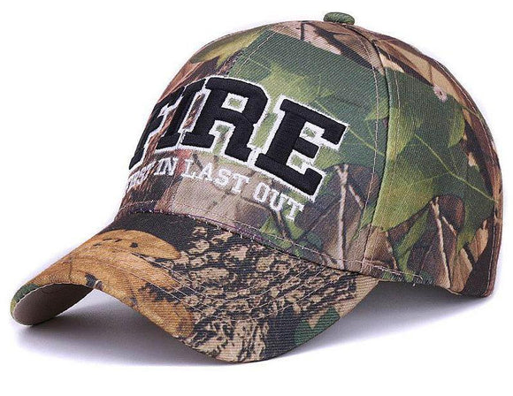 NEW ADJUSTABLE LETTER PRINT CAMOUFLAGE BASEBALL/HUNTING CAP