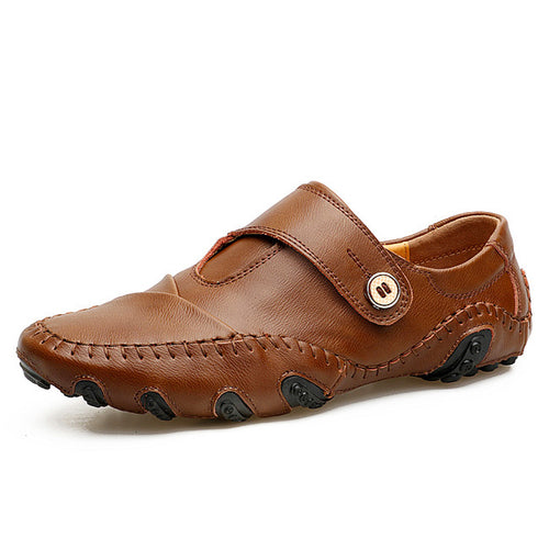 Mens Genuine Leather Luxury Italian Moccosin Type Loafers