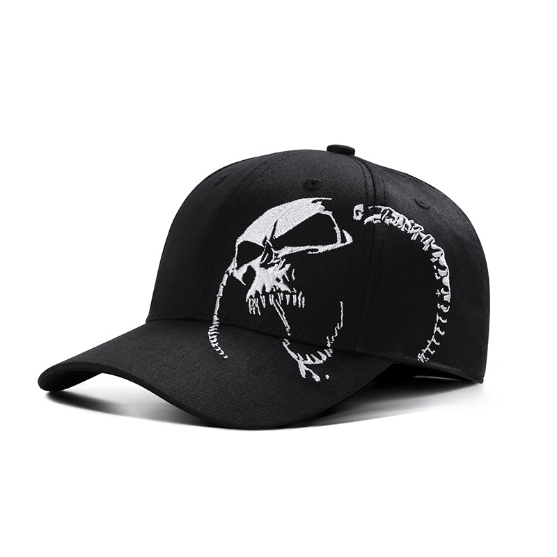 100% Cotton Embroidered Skull Baseball Cap*