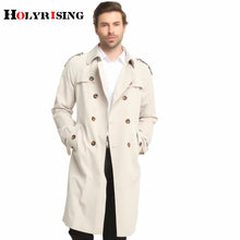 Load image into Gallery viewer, Beige Classic Slim Fit Double-Breasted British Trench Coat* (S-6XL)