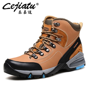 Mens Leather Hiking/Climbing/Trekking Mountain Boots