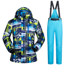 Load image into Gallery viewer, Mens 2-Piece Windproof Waterproof Thermal Ski Suit