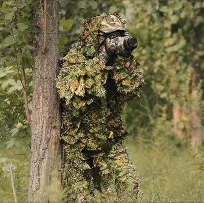 Mens 3D Bionic Leaf Camouflage Hunting Suit