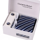 Mens Formal Striped/Paisley 3-Piece Neck Tie Set