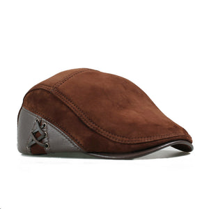 European Style Sheepskin/Suede Fitted Ivy Cap*