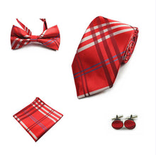 Load image into Gallery viewer, Mens 4-Piece 100% silk Formal Tie Sets*