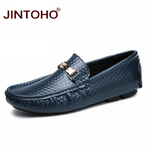 Mens Genuine Leather Spring/Summer Italian Slip-On Loafers