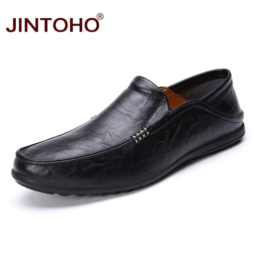 Mens Casual Genuine Leather Italian Loafers