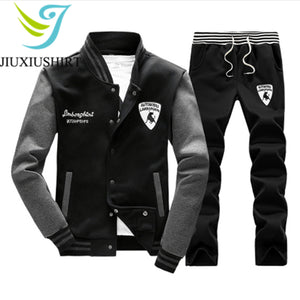 Mens Long Sleeve Winter Fitness Running Suit*