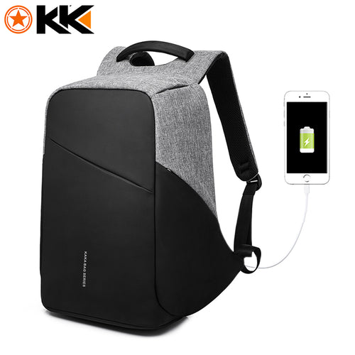 Anti-Theft 15.6 Inch USB Charging Laptop Backpack