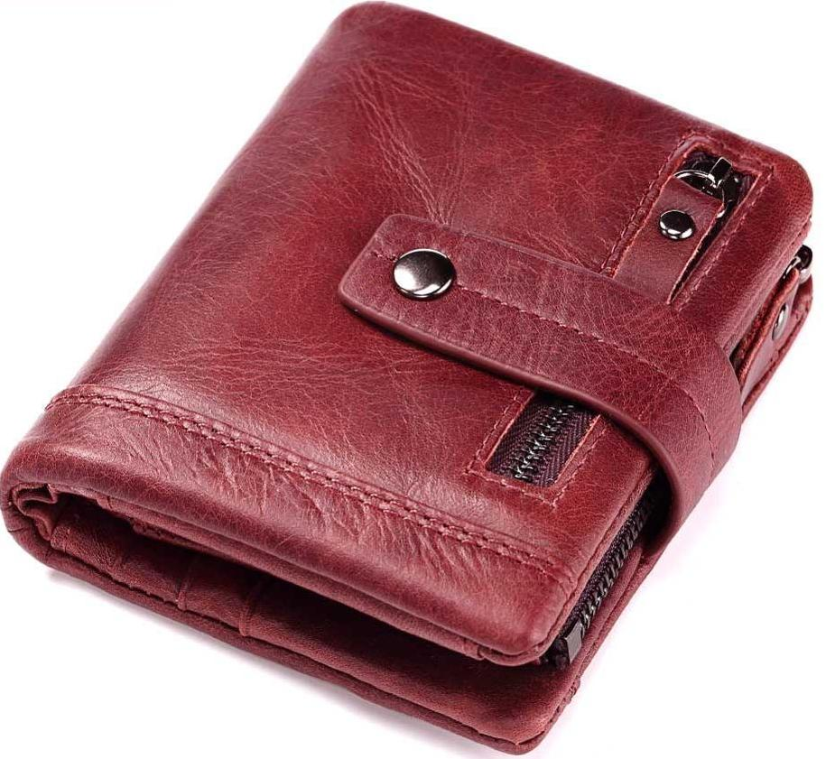 Men's Leather Wallet With Coin Purse Pockets