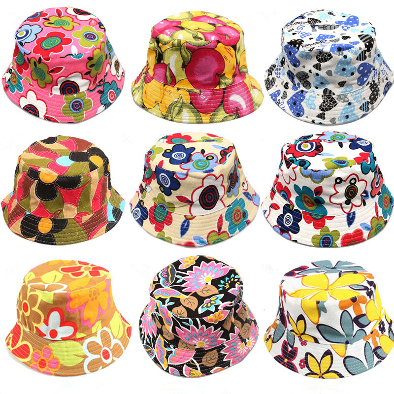 41f58de46f039 Kids Floral Pattern Canvas Bucket Hats – HUB TITAN
