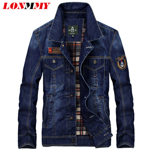 Mens Cotton Patch Denim Jeans Jacket