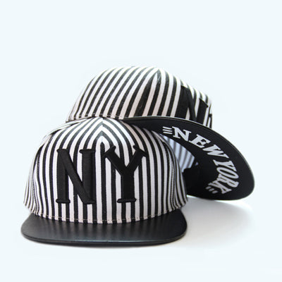 MENS STRIPED VINTAGE CASUAL NEW YORK LETTER CAP