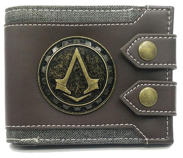 Men's Wallet- Assassins Creed wallet_ Small Vintage Photo/Card Holder