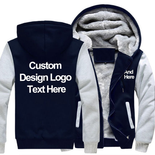 MENS CUSTOM PRINT HOODED PROFESSIONALLY CUSTOMIZED COAT