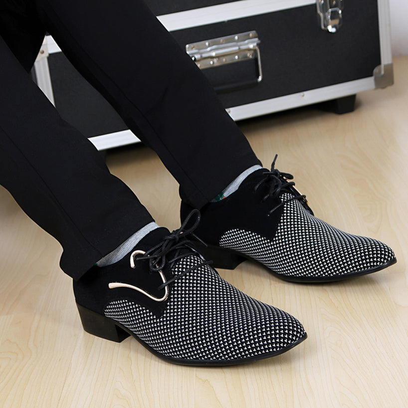 MENS BRITISH SYNTHETIC WHITE/NAVY FORMAL DRESS SHOES