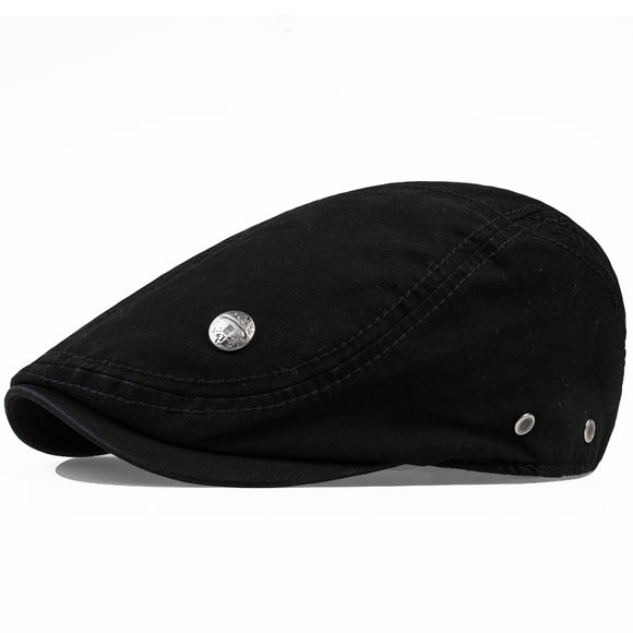 Solid Pattern Cotton Fluid Newsboy Cap